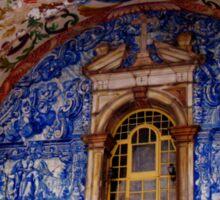 Ornate Tiled Facade - Obidos, Portugal Sticker