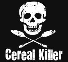 Cereal Killer Funny Biker Tattoo Skull by GardenShirt25