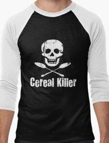 Cereal Killer Funny Biker Tattoo Skull Men's Baseball ¾ T-Shirt