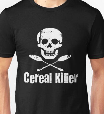 Cereal Killer Funny Biker Tattoo Skull Unisex T-Shirt