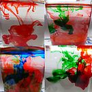 Water and ink.(food color) by MaeBelle