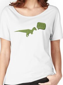 ORIGAMI GREEN DINOSAUR Women's Relaxed Fit T-Shirt
