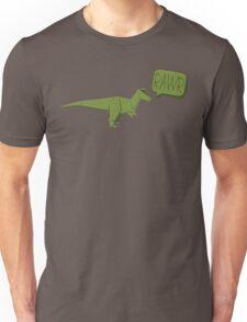 ORIGAMI GREEN DINOSAUR Unisex T-Shirt