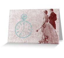 Victorian Time Steam Punk Pocket Watch Greeting Card
