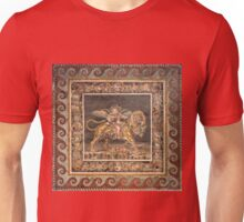 Dionysus on the back of a Tiger mosaic Unisex T-Shirt
