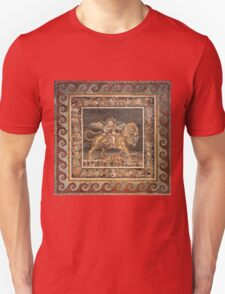 Dionysus on the back of a Tiger mosaic T-Shirt