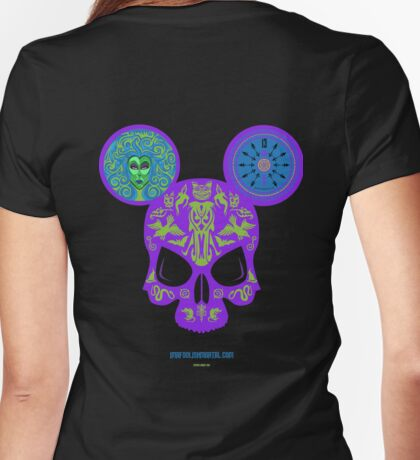 Haunted Skull by Imafoolishmortal Womens Fitted T-Shirt