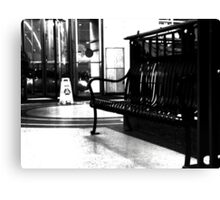 Tower City Bench  Canvas Print
