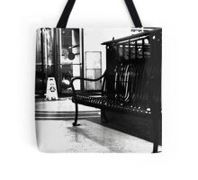 Tower City Bench  Tote Bag