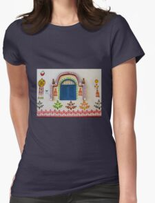 Artistic Facade - Nubian Village Womens Fitted T-Shirt