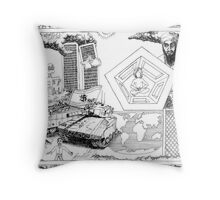 2002 Osama Bin Ladin and Controlled Demolitions on 9/11 Throw Pillow