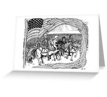 2000 Four Horseman and the coming Coup de Tat Greeting Card