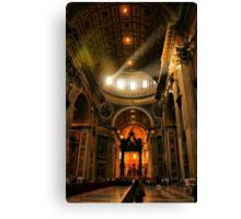 Light in Saint Peter's Canvas Print