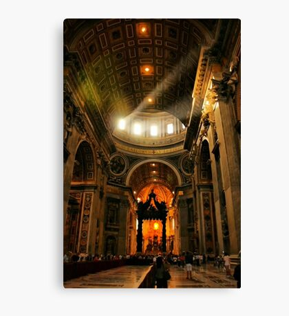 Light in Saint Peter's Canvas Print