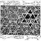 1996 Quantum Physics Hexagram by Davol White