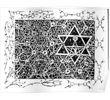 1996 Quantum Physics Hexagram Poster