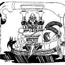 1993 Egyptian Hieroglyph of Nuit by Davol White