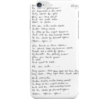 James Bay Handwritten Lyrics iPhone Case/Skin