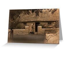Granny's Cottage in County Clare Greeting Card