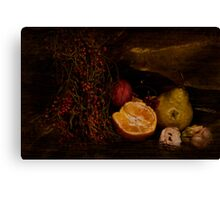 ~ still life with berries ~ Canvas Print