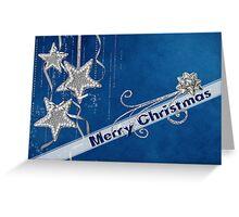 Silver Stars Greeting Card