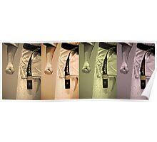 Vintage Karate ~ Black Belts Collage (Limited Edition) Poster