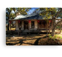 Come to my Cabin for Christmas Canvas Print