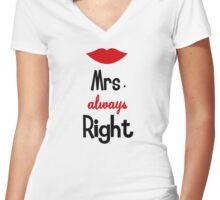 Mrs Always Right Women's Fitted V-Neck T-Shirt