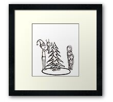 Zombie Christmas (raw) Framed Print