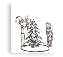 Zombie Christmas (raw) Canvas Print