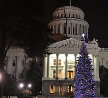 California State Capitol Building, Christmas 2010 by Lenny La Rue, IPA