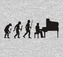 Funny Evolution of Man and Piano by DesignMC