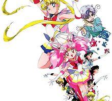 Sailor Moon SuperS - Group Shot by PerfumedLizard