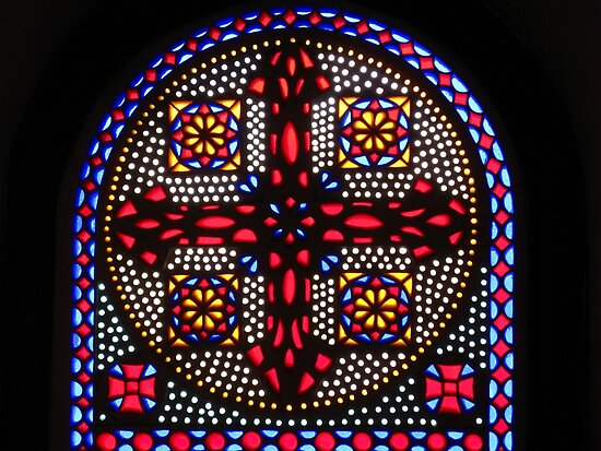 Stained Glass Window - Coptic Church by Marilyn Harris