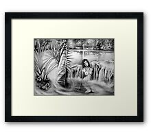 Waiting for Night in the Garden of Dreams Framed Print