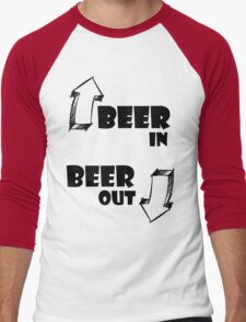 Beer In, Beer Out Men's Baseball ¾ T-Shirt
