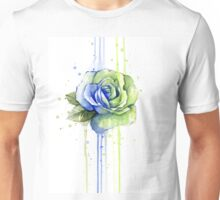 Seattle 12th Man Rose Watercolor Painting Unisex T-Shirt