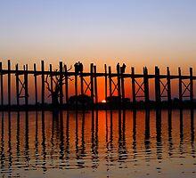 U Bein Bridge by Thaw Zin