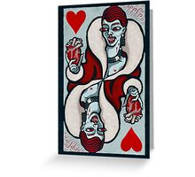 Mina, Vampire Queen of Hearts Greeting Card