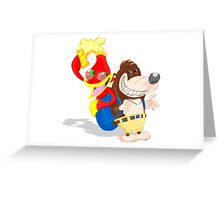 Ren and Stimpy x Banjo-Kazooie Greeting Card
