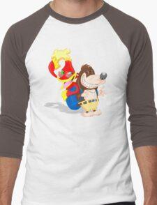 Ren and Stimpy x Banjo-Kazooie Men's Baseball ¾ T-Shirt