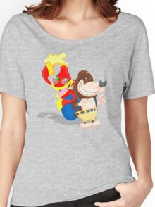 Ren and Stimpy x Banjo-Kazooie Women's Relaxed Fit T-Shirt