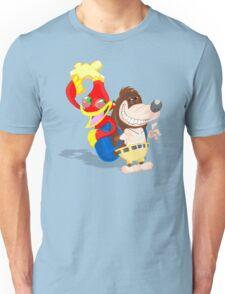 Ren and Stimpy x Banjo-Kazooie Unisex T-Shirt
