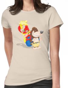 Ren and Stimpy x Banjo-Kazooie Womens Fitted T-Shirt