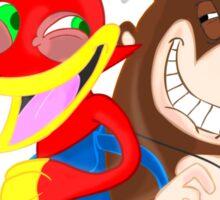 Ren and Stimpy x Banjo-Kazooie Sticker