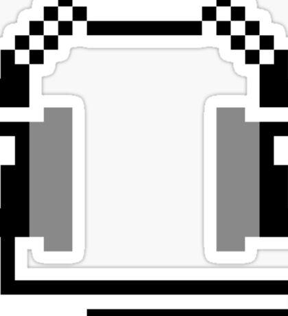 8-bit Headphones Sticker