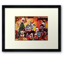 Aussie Christmas Collage Framed Print