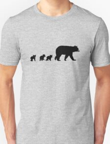 Mama Bear and her Cubs.  Unisex T-Shirt