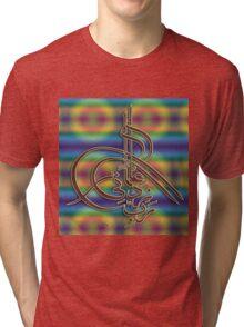 Rabbey Zidni ilma print Tri-blend T-Shirt
