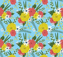 Sunny Picnic Floral by Emma Hampton